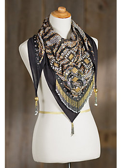 Mary Frances Daring Lotus Scarf