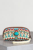 Turquoise Power Mary Frances Designer Wristlet Wallet