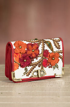 Well Red Mary Frances Designer Handbag