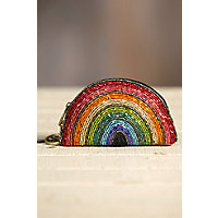 1930s Handbags and Purses Fashion Mary Frances Over the Rainbow Designer Keychain Coin Pouch $45.00 AT vintagedancer.com