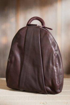 Teardrop Leather Backpack Handbag