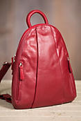 Women's Teardrop Leather Backpack Handbag