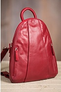 Teardrop Leather Backpack Handbag