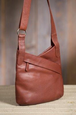 Jessica Kriss Kross Leather Handbag