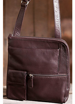 Women's Flat Crossbody Leather Handbag