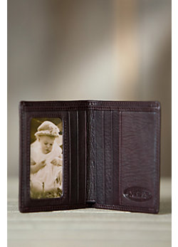 Bifold Cashmere Leather Wallet