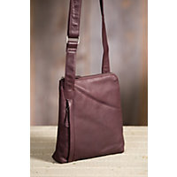 Women's Makenzie Cashmere Leather Messenger Bag, Raisin Western & Country