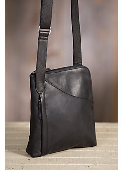 Women's Makenzie Cashmere Leather Messenger Bag