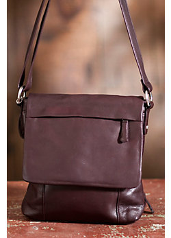 Lori Flapped Leather Messenger Bag