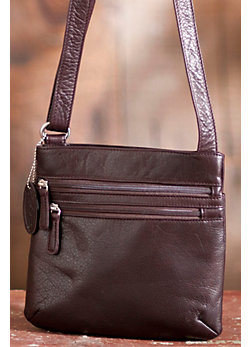 Brooke Triple Zip Leather Handbag