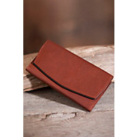 Ultra-Light Leather Clutch Wallet, Brandy Western & Country