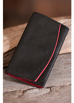 Ultra-Light Leather Clutch Wallet