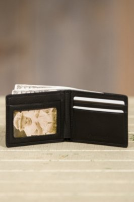 Ultra Mini Leather Wallet with ID Window