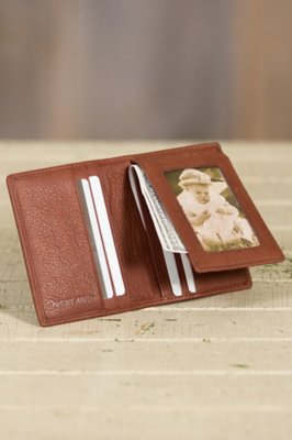 Flip-Fold Leather Wallet
