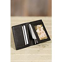 Flip-Fold Leather Wallet, Black Western & Country