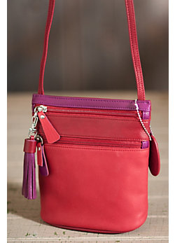 Women's Meagan Mini Triple Zip Leather Handbag