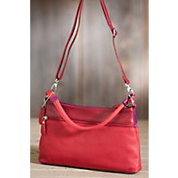 Women's Carley Convertible Leather Handbag, Berry Western & Country