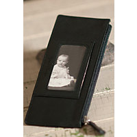 Women's Leather Credit Card Wallet, Black Western & Country