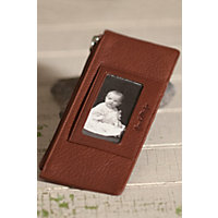 Women's Leather Credit Card Wallet, Brandy Western & Country