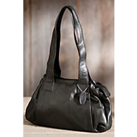 Women's Ava Argentinian Leather Handbag, Black Western & Country