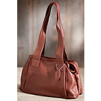 Women's Ava Argentinian Leather Handbag, Brandy Western & Country