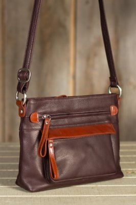 Lucy Leather Crossbody Handbag