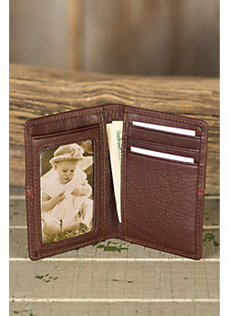 Signature Leather Card Case Wallet