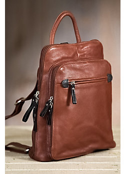 Women's Macy Leather Backpack Handbag