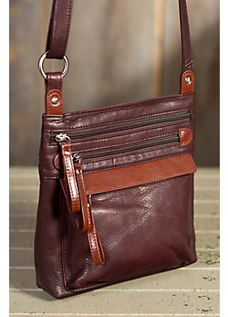 Tessa Leather Crossbody Handbag