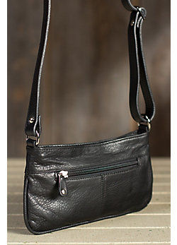 Evening Leather Crossbody Handbag