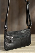 Women's Evening Leather Crossbody Handbag