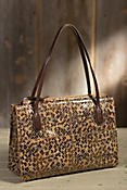 Hobo Friar Patterned Leather Handbag
