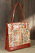 Women's Hobo Finley Patterned Leather Tote Bag