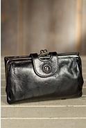 Women's Hobo Alice Leather Clutch Wallet