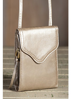 Women's Hobo Pennie Leather Crossbody Handbag Wallet