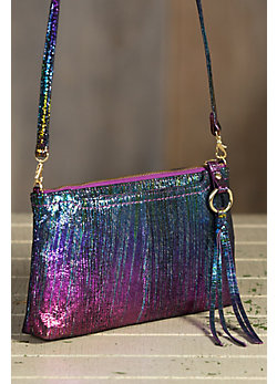 Hobo Darcy Iridescent Leather Handbag