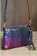 Hobo Darcy Iridescent Leather Handbag