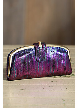 Women's Hobo Emelia Iridescent Leather Wallet