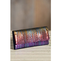 Women's Hobo Sadie Iridescent Leather Wallet