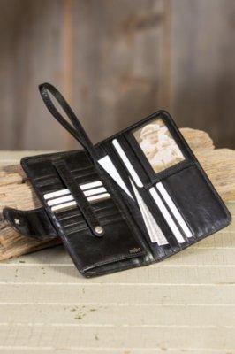 Hobo Denni Leather Wristlet Wallet