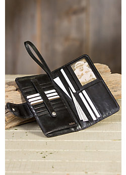 Hobo Denni Leather Wristlet Wallet