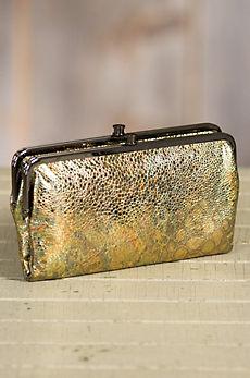 Hobo Lauren Patterned Leather Clutch Wallet