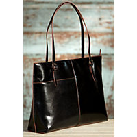 Women's Hobo Annalisa Leather Handbag, BLACK, Size 1 Size