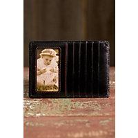 Women's Hobo Euro Slide Leather Wallet, Black Western & Country