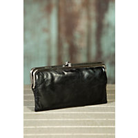 Women's Hobo Lauren Leather Clutch Wallet, BLACK, Size 1 Size