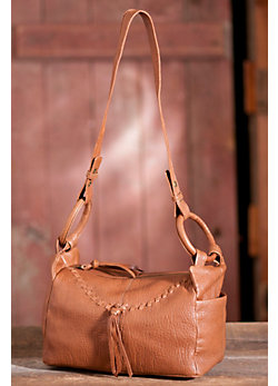 Women's Hobo Boxcar Leather Handbag