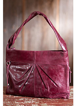 Women's Hobo Betty Leather Shoulder Bag