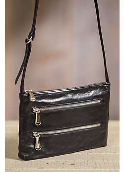 Women's Hobo Mara Leather Cross-Body Handbag