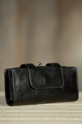 Hobo Nancy Leather Wristlet Wallet