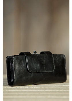 Women's Hobo Nancy Leather Wristlet Wallet